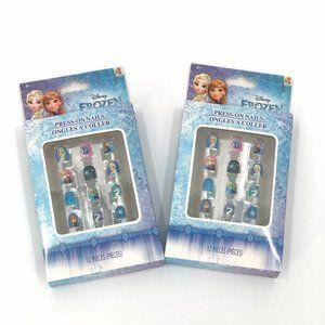 Disney Frozen Press On Nails 2 Sets Manicure Toys